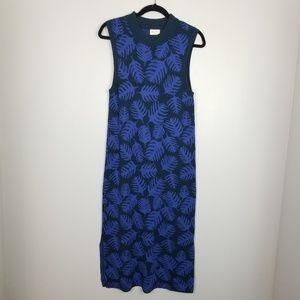 Gorman leaf print sweater dress